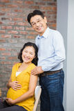 Portrait of happy expectant couple Royalty Free Stock Images