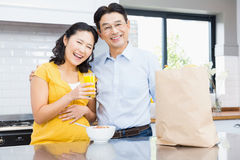 Portrait of happy expectant couple Royalty Free Stock Image