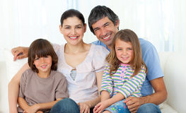 Portrait of a happy family Stock Image