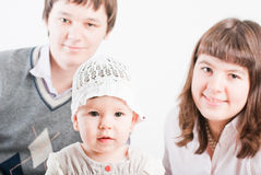 Portrait of a happy family Stock Photography