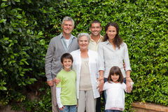 Portrait of a happy family Stock Images