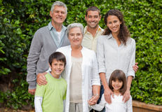 Portrait of a happy family Royalty Free Stock Photos