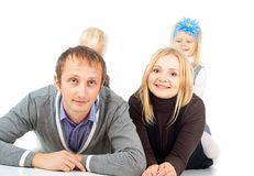 Portrait of happy family Royalty Free Stock Images