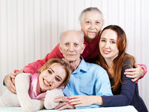 Portrait of  happy family. Stock Images
