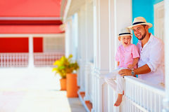 Portrait of happy family on caribbean vacation Royalty Free Stock Photography