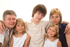 Portrait of a happy family of five Stock Photography