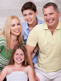 Portrait of happy family of four Stock Images
