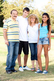Portrait of a happy family of four Royalty Free Stock Photography