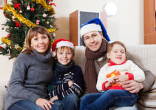 Portrait of Happy family of four Royalty Free Stock Photography