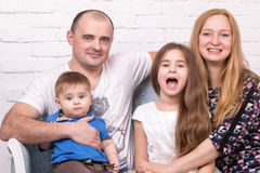 Portrait of a happy family Royalty Free Stock Image
