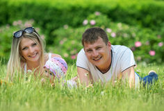 Portrait Of Happy Family In Garden Royalty Free Stock Photography