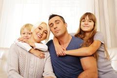 Portrait of happy family Stock Image