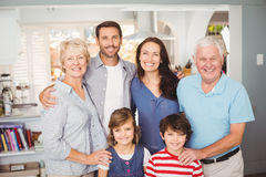 Portrait of happy family at home Royalty Free Stock Image