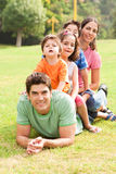 Portrait of happy family looking at camera Stock Image