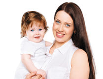 Portrait happy family mother with her little baby Royalty Free Stock Photography