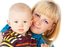 Portrait of a happy family mother and little child Stock Image