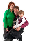 Portrait of happy family over white background Royalty Free Stock Photography