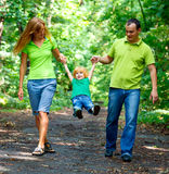 Portrait of Happy Family In Park royalty free stock images