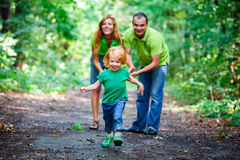 Portrait of Happy Family In Park Stock Photography