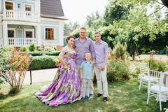 Portrait of Happy Family In Park - outdoor shot Stock Images