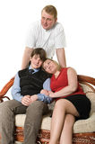 Portrait of happy family persons Stock Photography