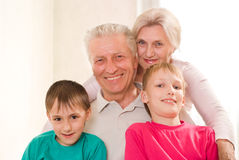 Portrait of a happy family playing Royalty Free Stock Photo