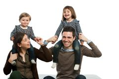 Happy family playing around. stock photography