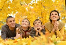 Portrait of happy family Royalty Free Stock Image