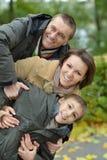 Portrait of happy family Stock Photos