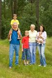 Portrait of a happy family of six Royalty Free Stock Photo