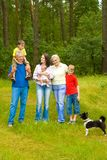 Portrait of a happy family of six Royalty Free Stock Image