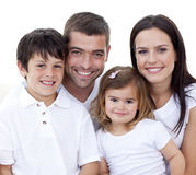 Portrait of happy family smiling Stock Photography