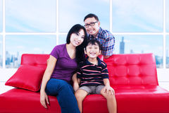 Portrait of happy family smiling Royalty Free Stock Images