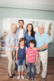 Portrait of happy family Stock Photos