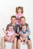 Portrait of happy family stock photo