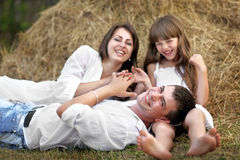 Portrait of a happy family Royalty Free Stock Photography