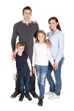 Portrait of happy family with their children Stock Image
