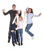 Portrait of happy family with their children Stock Photos