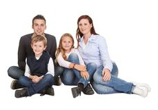 Portrait of happy family with their children Royalty Free Stock Photography