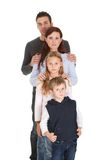 Portrait of happy family with their children Royalty Free Stock Photos