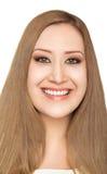 Portrait of happy fat woman Stock Photo