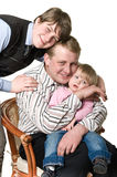 Portrait of happy father with children Royalty Free Stock Photography