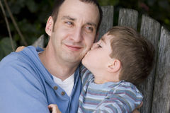 Portrait of a happy father and his son. Royalty Free Stock Photo