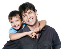 Portrait of happy father and son Royalty Free Stock Images