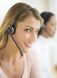 Portrait Of Happy Female Customer Service Representative Stock Photos