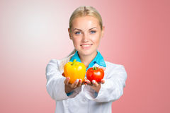 Portrait Of Happy Female Dietician Stock Images