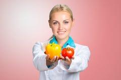 Portrait Of Happy Female Dietician Stock Images