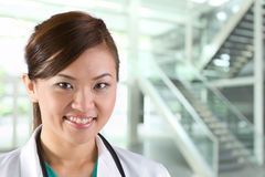 Portrait of a happy Female Doctor Stock Photos