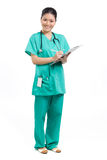 Portrait of a happy Female Doctor Royalty Free Stock Photos