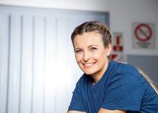 Portrait Of Happy Female Mechanic Royalty Free Stock Photos